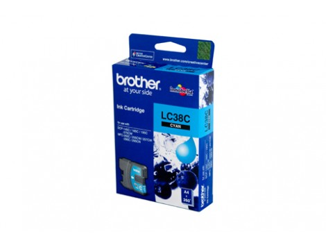 Genuine Brother LC-38C Cyan Ink Cartridge