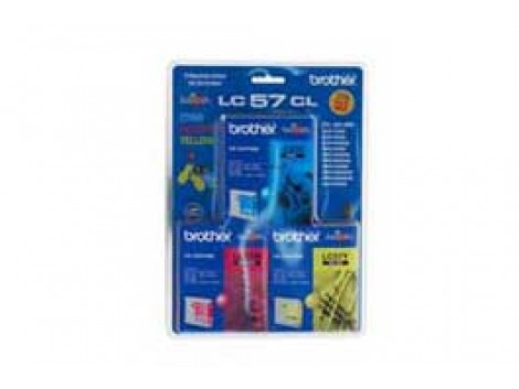 Genuine Brother LC-57CL3PK Colour Ink Cartridge
