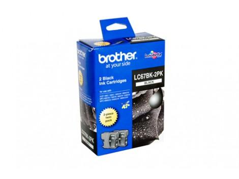 Genuine Brother LC-67BK2PK Black Ink Cartridge