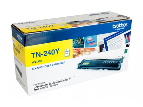 Genuine Brother TN-240Y Yellow Toner Cartridge