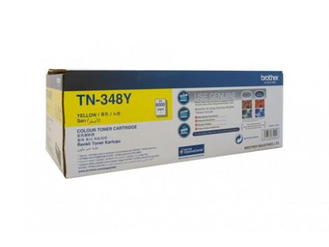 Genuine Brother TN-348Y Yellow Toner Cartridge