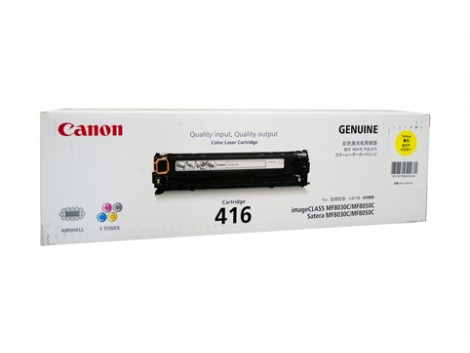 Genuine Canon CART416Y Yellow Toner Cartridge