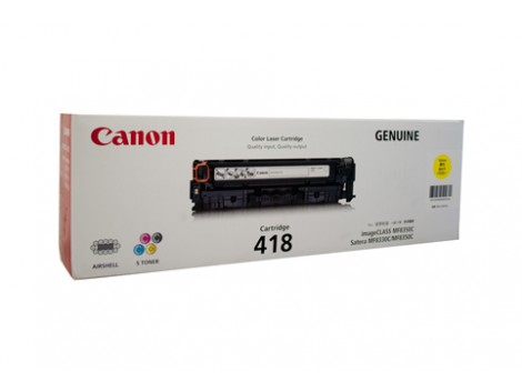 Genuine Canon CART418Y Yellow Toner Cartridge