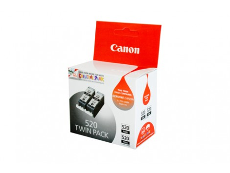 Genuine Canon PGI520BK-TWIN Black Ink Cartridge