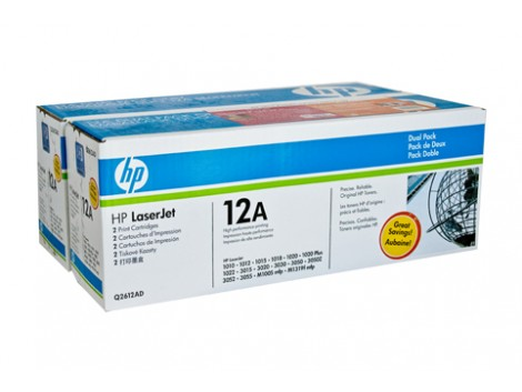 Genuine HP Q2612AD Black Toner Cartridge