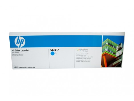Genuine HP CB381A Cyan Toner Cartridge