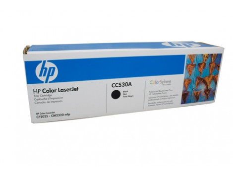 Genuine HP CC530A Black Toner Cartridge