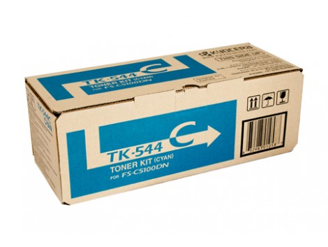 Genuine Kyocera TK-544C Cyan Toner Cartridge