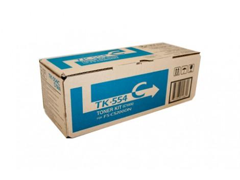 Genuine Kyocera TK-554C Cyan Toner Cartridge