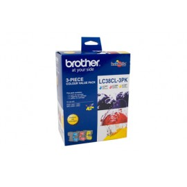 Genuine Brother LC-38CL3PK Colour Ink Cartridge