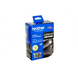 Genuine Brother LC-67BK2PK Black Ink Cartridge