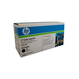 Genuine HP CE260X High Yield Black Toner Cartridge