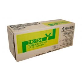 Genuine Kyocera TK-554Y Yellow Toner Cartridge
