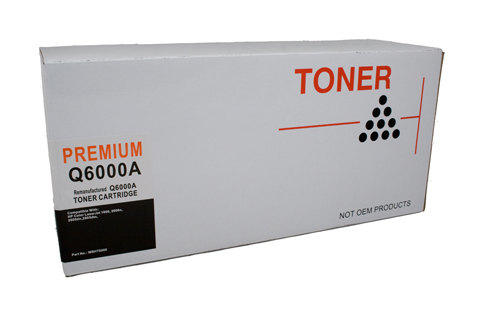 Compatible HP #124 (Q6000A) Black Toner Cartridge