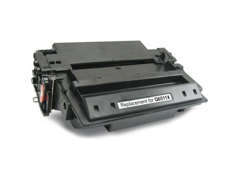 Compatible HP #11X, Mono High Yield Laser Cartridge, #11X (Q6511X) High Yield Toner Cartridge