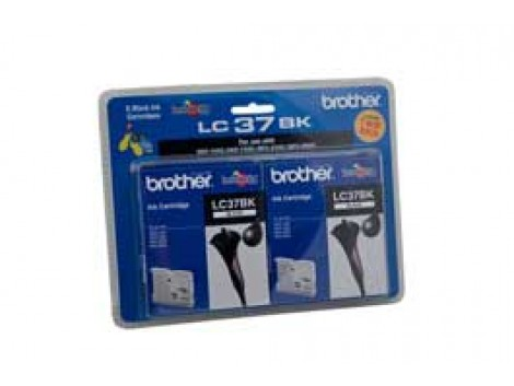 Genuine Brother LC-37BK2PK Ink Cartridge