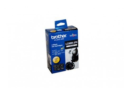 Genuine Brother LC-38BK2PK Ink Cartridge