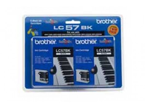 Genuine Brother LC-57BK2PK Black Ink Cartridge
