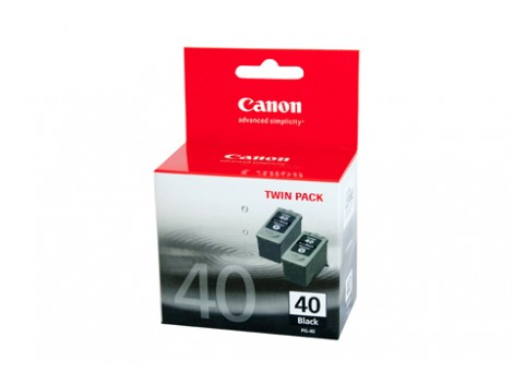 Genuine Canon PG40-TWIN Black Ink Cartridge