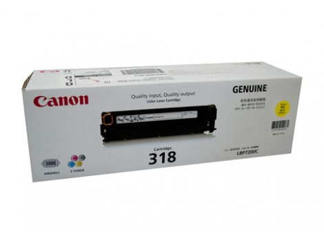 Genuine Canon CART318Y Yellow Toner Cartridge