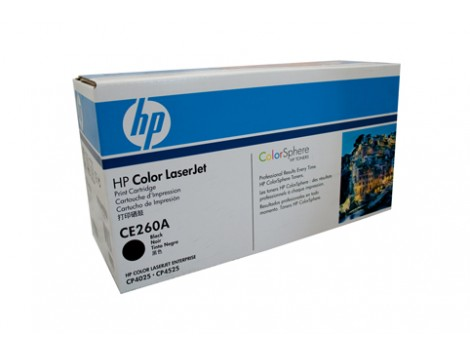 Genuine HP CE260A Black Toner Cartridge