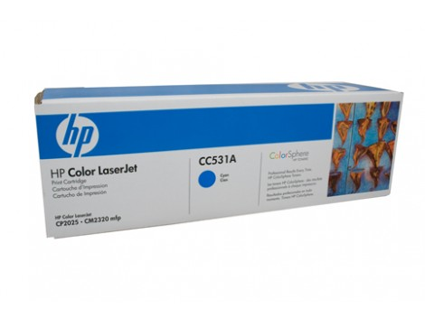Genuine HP CC531A Cyan Toner Cartridge