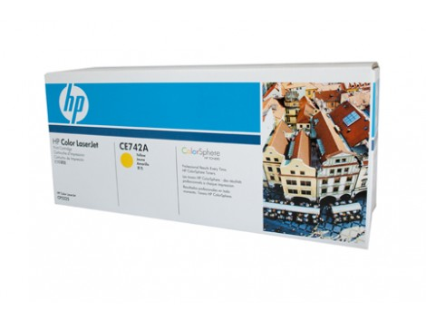 Genuine HP CE742A Toner Cartridge