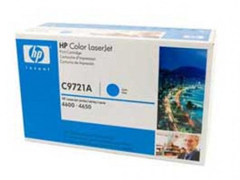 Genuine HP C9721A Cyan Toner Cartridge