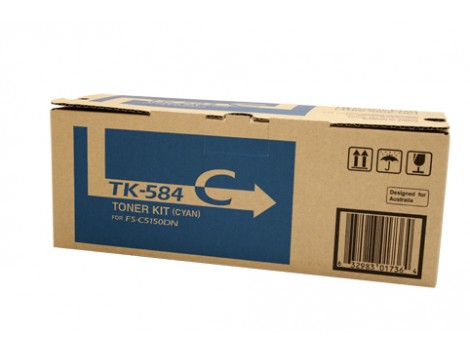 Genuine Kyocera TK-584C Toner Cartridge