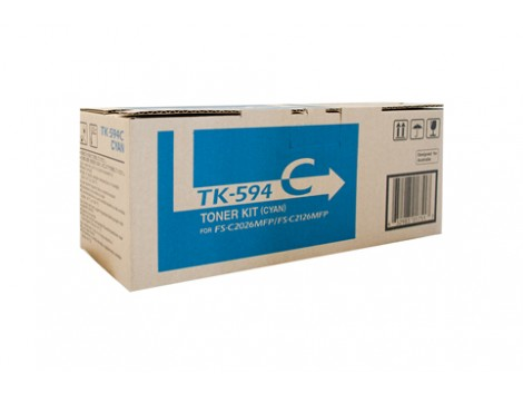 Genuine Kyocera TK-594C Cyan Toner Cartridge