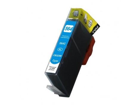 Compatible HP #564XL, Cyan High Yield Ink Cartridge, #564XLC (CB323WA) High Yield Ink Cartridge