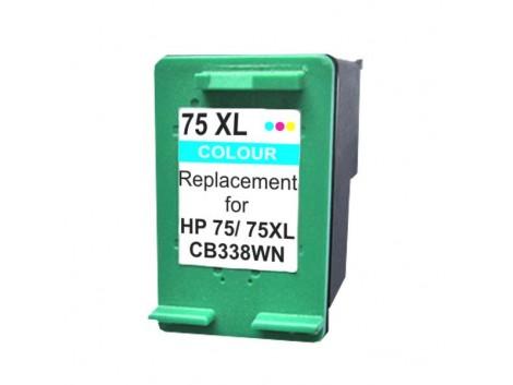 Compatible HP #75X, #75XLC (CB338WA) High Yield Ink Cartridge