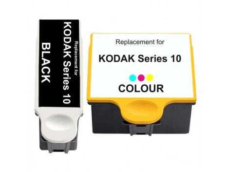 Compatible Kodak Series 10 Black, Series 10 Colour Ink Cartridge