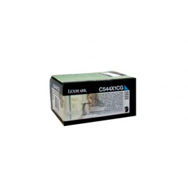 Genuine Lexmark C544X1CG Cyan Toner Cartridge