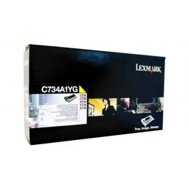 Genuine Lexmark C734A1YG Toner Cartridge