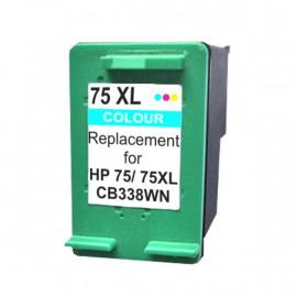 Remanufactured HP #75X, #75XLC (CB338WA) Ink Cartridge