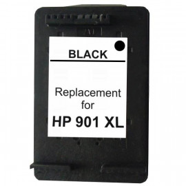 Compatible HP #901XL, Black High Yield Ink Cartridge, #901XLBk (CC654AA) High Yield Ink Cartridge